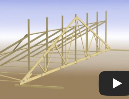 Slik gjøres det – på bakken: Montering av takstoler i store bygg